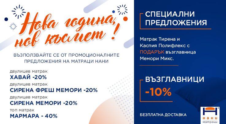 Матраци НАНИ - промоция месец Януари