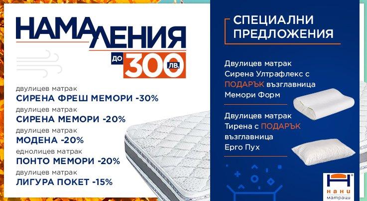 Матраци НАНИ - промоция Ноември